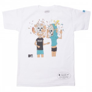 BAIT x MTV Beavis And Butthead x Gondek Men Face Explosion Tee (white)