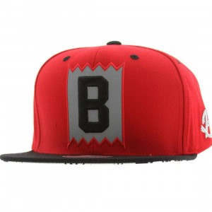 BAIT x Mitchell And Ness B Box Logo Snapback Cap - 3M (red / black)