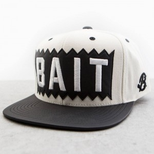 BAIT x Mitchell And Ness Box Logo Snapback Cap - Leather Brim (natural / black)