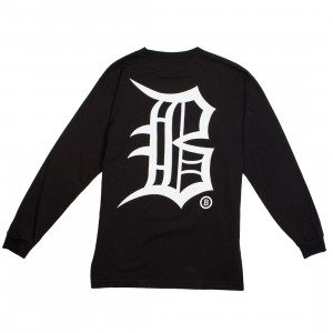 BAIT Men Old B Long Sleeve Tee (black)
