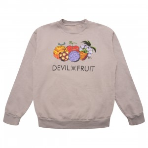 BAIT x One Piece x Upcycle LA Men Devil Fruit Crewneck Sweater (gray)