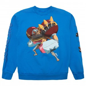 BAIT x One Piece x Upcycle LA Men Franky Crewneck Sweater (blue)