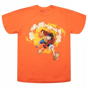 BAIT x One Piece x Upcycle LA Men Luffy Fire Tee (orange)