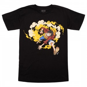 BAIT x One Piece x Upcycle LA Men Luffy Fire Tee (black)