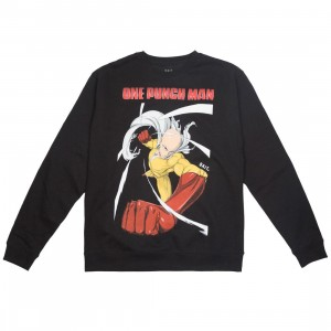 BAIT x One Punch Man Men Spring into Action Crewneck Sweater (black)