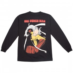 BAIT x One Punch Man Men Spring into Action Long Sleeve Tee (black)