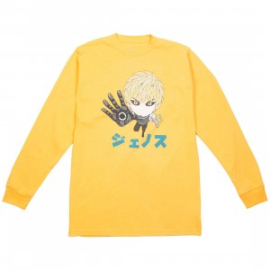 BAIT x One Punch Man Men Genos Chibi Long Sleeve Tee (yellow / gold)