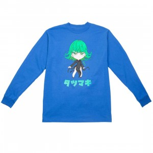 BAIT x One Punch Man Men Tatsumaki Chibi Long Sleeve Tee (blue / bohemian)
