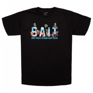 BAIT x One Piece x Upcycle LA Men Straw Hat BAIT Crew Tee (black)