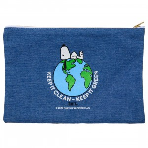 BAIT x Snoopy Our World Pencil Pouch (blue / denim)