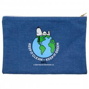 BAIT x Snoopy Our World Pencil Pouch (blue / denim)