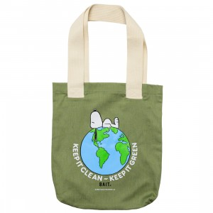 BAIT x Snoopy Our World Tote Bag (green / heather)