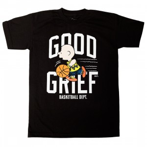 BAIT x Snoopy Men Good Grief Basketball Tee (black)