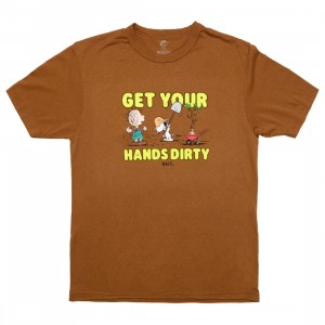 BAIT x Snoopy x Upcycle Men Plant A Tree Tee (brown / toffee)