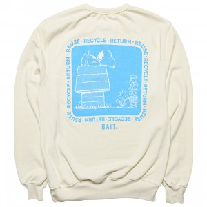 BAIT x Snoopy x Upcycle Men Recycle Crew Sweater (white / off white)