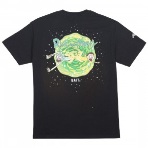 BAIT x Rick and Morty Men Portal Glow In The Dark Tee (black)