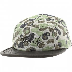 BAIT Script 5 Panel Camper Adjustable Cap (camo / black)