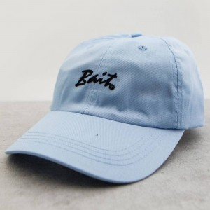 BAIT Script Logo Dad Cap (light blue)