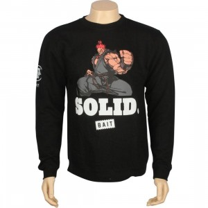 BAIT x Street Fighter Akuma Solid Crewneck (black)