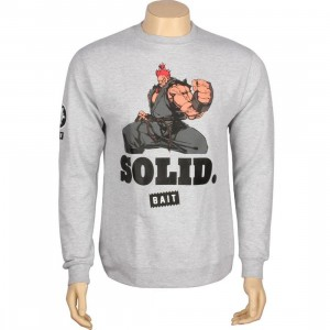 BAIT x Street Fighter Akuma Solid Crewneck (heather grey)