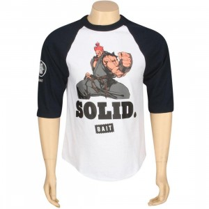 BAIT x Street Fighter Akuma Solid Raglan (white / navy)