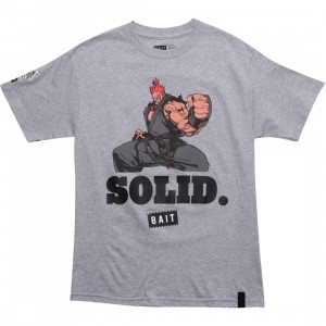 BAIT x Street Fighter Akuma Solid Tee (heather grey)