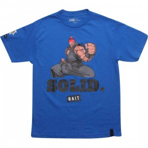 BAIT x Street Fighter Akuma Solid Tee (royal blue)