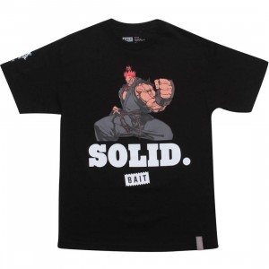 BAIT x Street Fighter Akuma Solid Tee (black / white)
