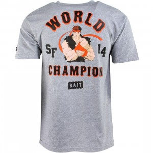 BAIT x Street Fighter Ryu Championship 2014 Tee (gray / heather gray)