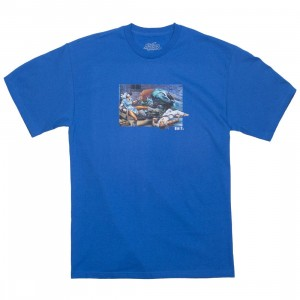 BAIT x Street Fighter Men The World Warrior Tee (blue / royal blue)