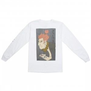 BAIT x Street Fighter x Kidokyo Men Akuma Long Sleeve Tee (white / natural)