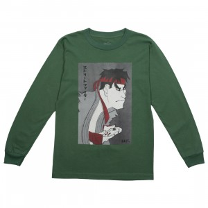 BAIT x Street Fighter x Kidokyo Men Ryu Long Sleeve Tee (green / forest)