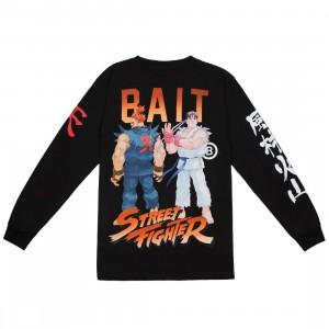 BAIT x Street Fighter Men Akuma Versus Ryu Stance Long Sleeve Tee (black)