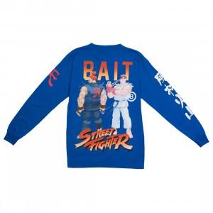 BAIT x Street Fighter Men Akuma Versus Ryu Stance Long Sleeve Tee (blue / royal)