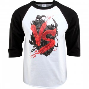 BAIT x Street Fighter Akuma VS Ryu Raglan Tee - Long Vo (white / black / black)