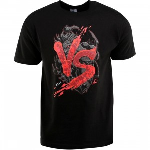 BAIT x Street Fighter Akuma VS Ryu Tee - Long Vo (black / black) - BAIT SDCC Exclusive