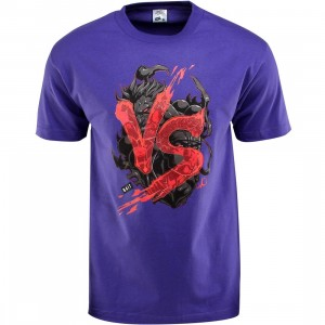 BAIT x Street Fighter Akuma VS Ryu Tee - Long Vo (purple / black) - BAIT SDCC Exclusive