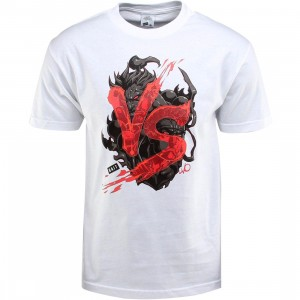 BAIT x Street Fighter Akuma VS Ryu Tee - Long Vo (white / black) - BAIT SDCC Exclusive