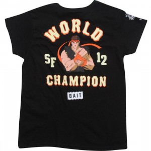 BAIT x Street Fighter Womens Ryu Championship Tee (black)