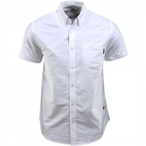 BAIT Oxford Short Sleeve Shirt (white)