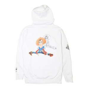 BAIT x Toy Story Men Woody And Buzz Sketch Design Hoody (white)