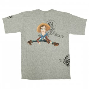 BAIT x Toy Story Men Woody And Buzz Sketch Design Tee (gray / dark ash)