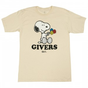 BAIT x Snoopy Men Givers Tee (white / oatmeal)