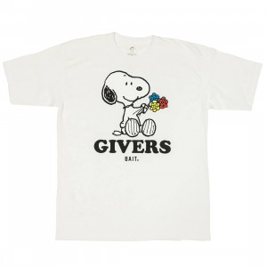 BAIT x Snoopy Men Givers Tee (white)