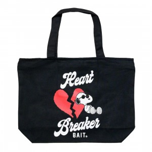 BAIT x Snoopy Heart Breaker Tote Bag (black)