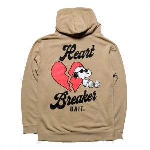 BAIT x Snoopy Men Heart Breaker Hoody (brown / sand)