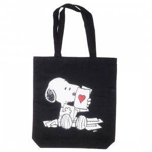 BAIT x Snoopy Lots Of Love Tote Bag (black)