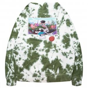 BAIT x Space Jam A New Legacy Men Bugs Dribble Hoody (green / tie dye)