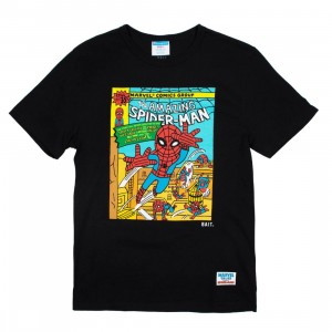 BAIT x Spiderman x Champion Men Spiderman Comic Tee (black)