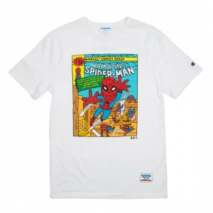BAIT x Spiderman x Champion Men Spiderman Comic Tee (white)